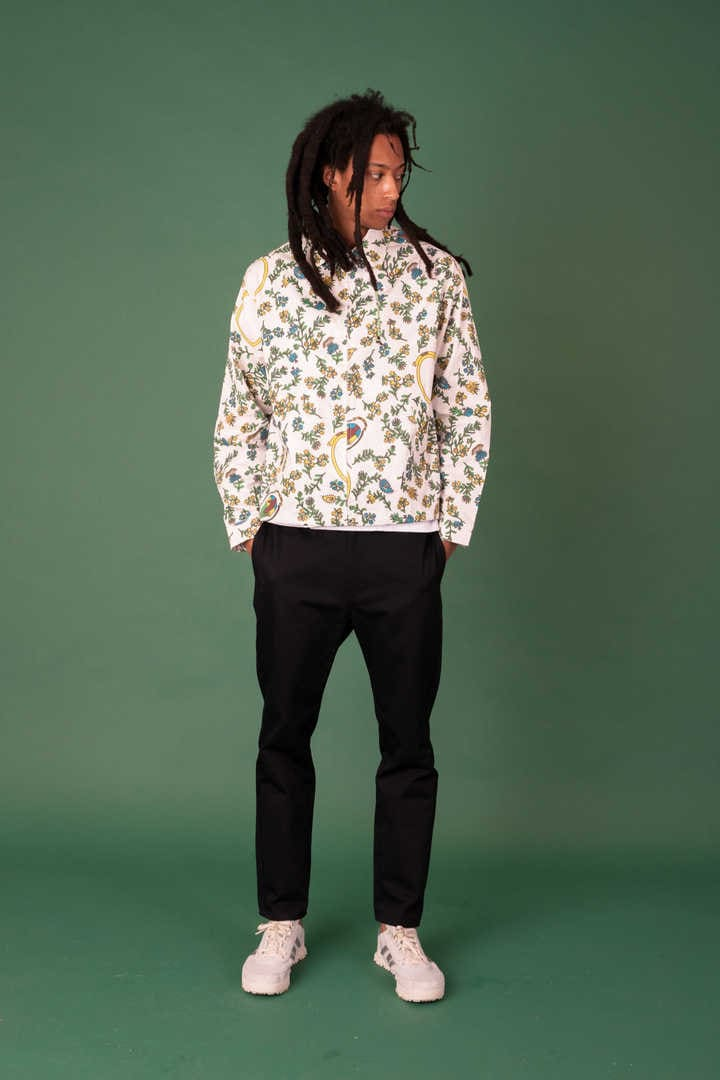 LIGHT WEIGHT BLOUSON WITH PRINT