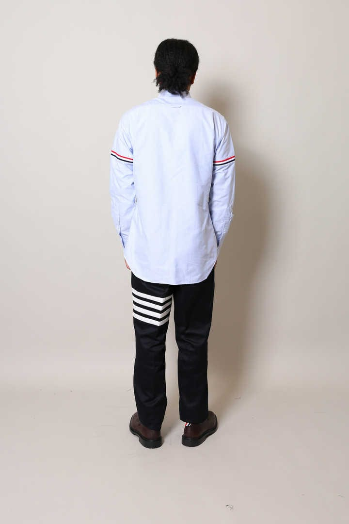 ELASTIC STRIPE L/S SHIRT OXFOR