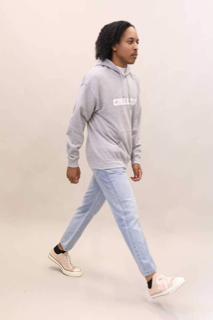 CHILL OUT LOGO HOODED SWEAT