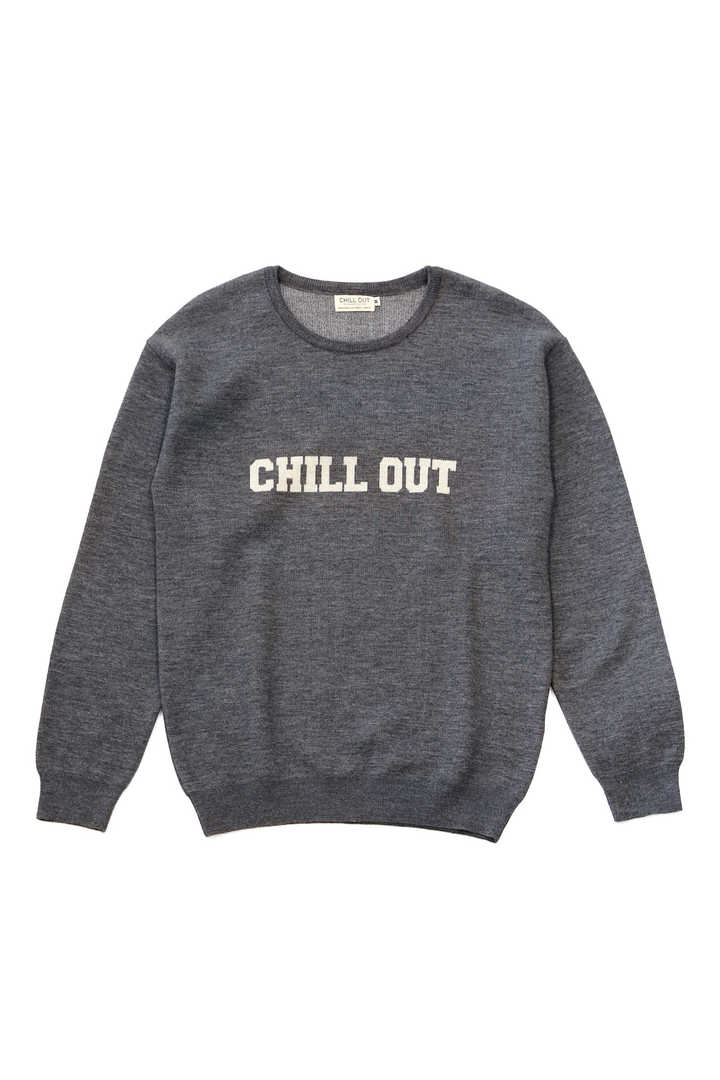 CHILL OUT LOGO KNIT SWEATER