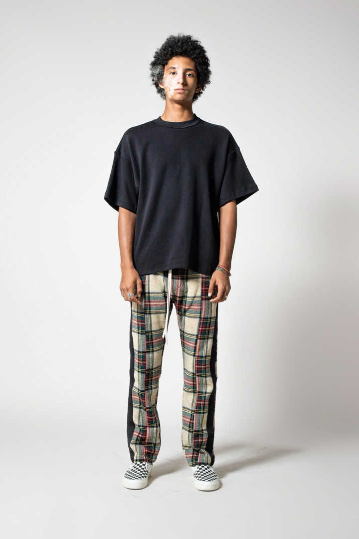 PLAID BAGGY TROUSER