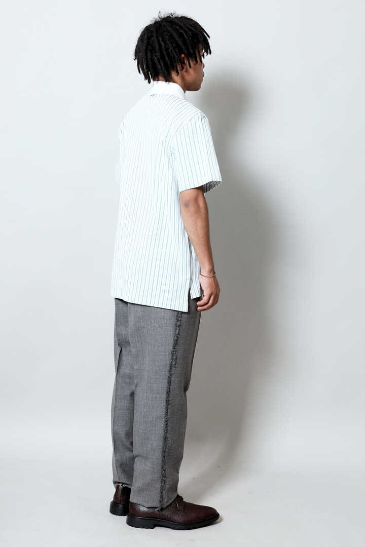SS POLO IN PINSTRIPE JERSEY