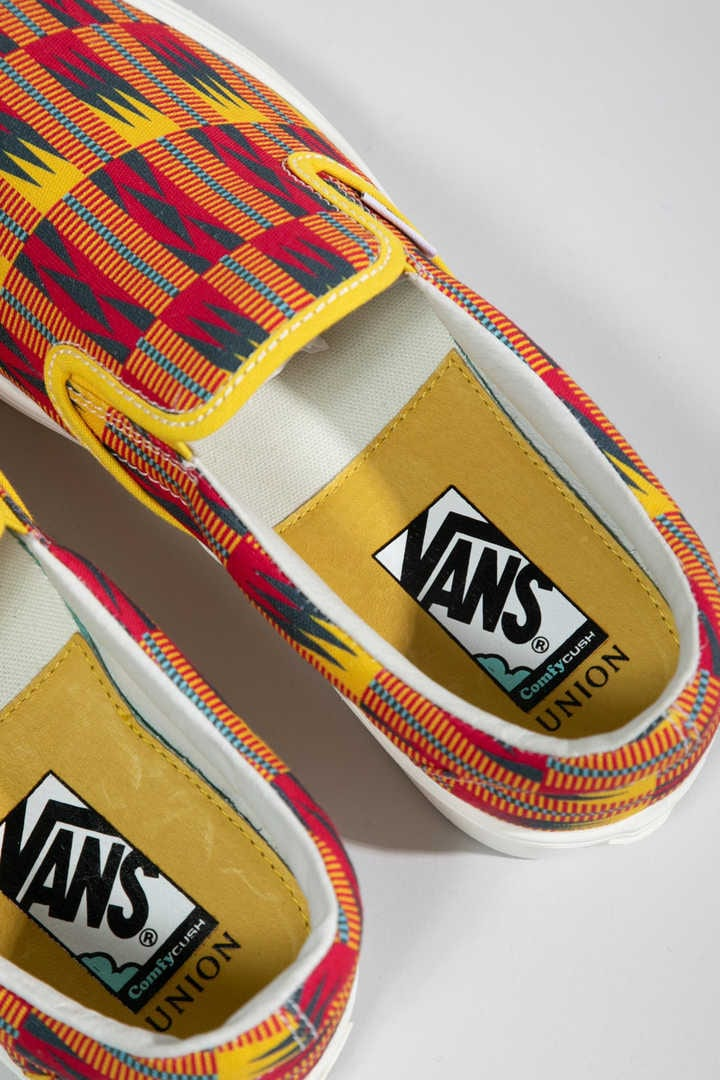 UNION KENTE SLIP-ON VANS