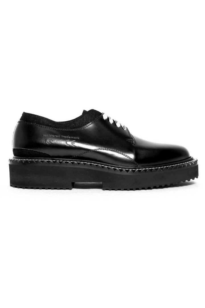 CUT OXFORD LEATHER  SHOES