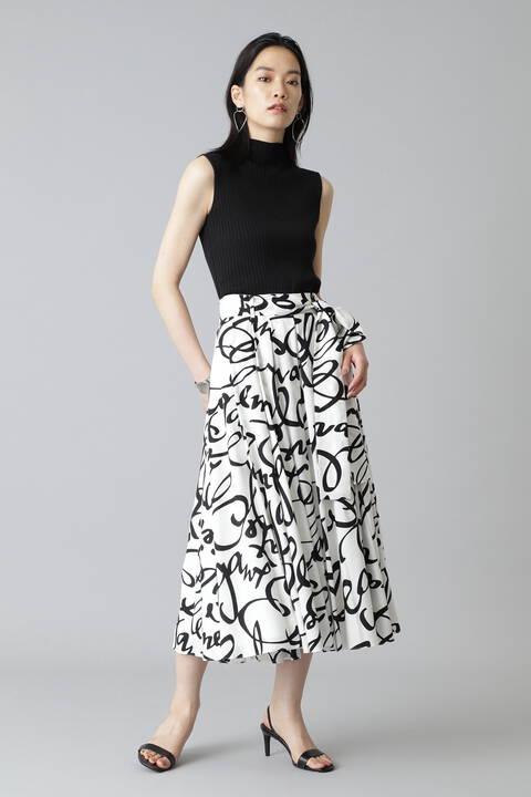 《Ele NB》Cursive Print スカート