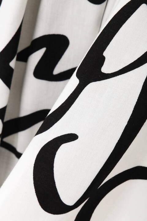 【先行予約 6月下旬-7月上旬入荷予定】《Ele NB》Cursive Print スカート