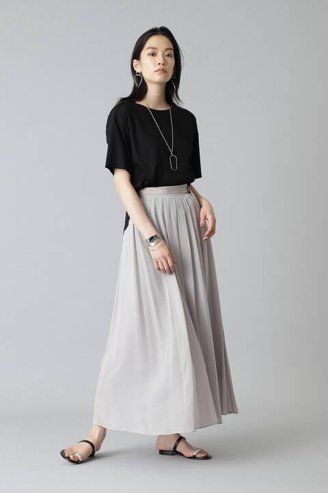 《Ele NB》キュプラコットンハイツイストボイルスカート