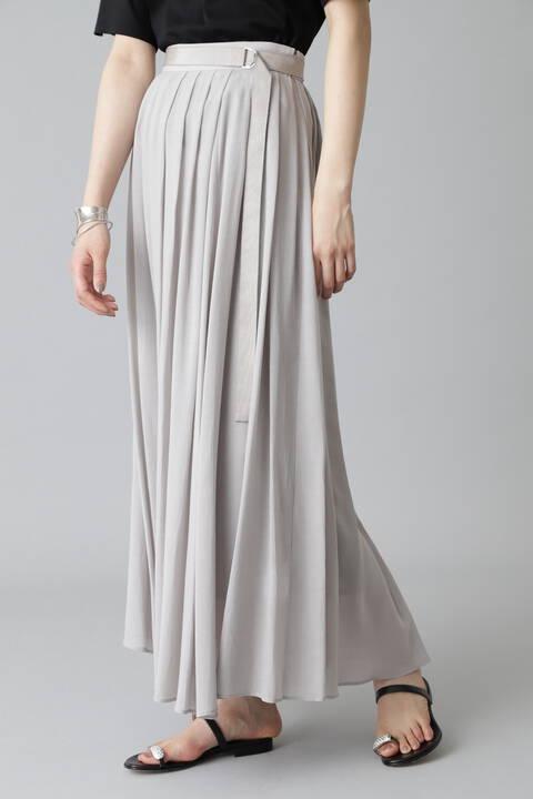 キュプラコットンハイツイストボイルスカート