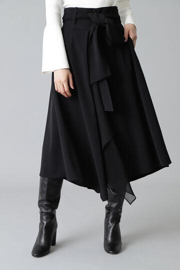 異素材ドッキングスカート