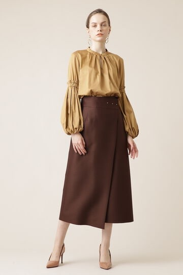 シルクウールストレートスカート