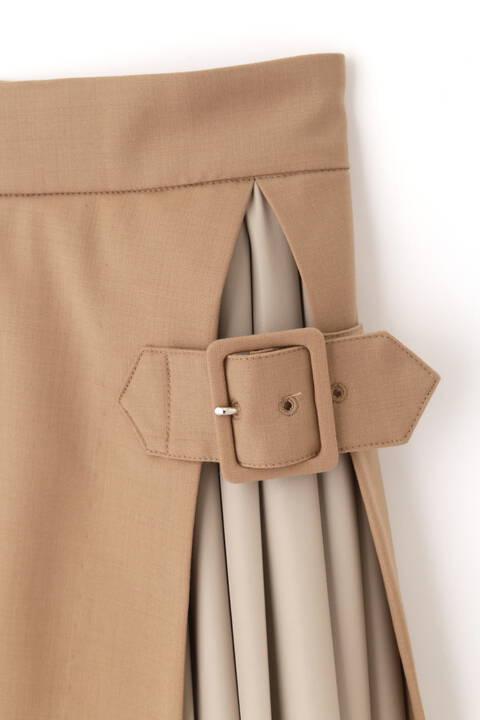 プリーツ×異素材スカート