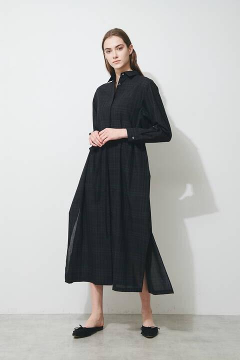 ロングシャツドレス