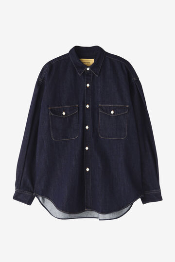 SEVEN BY SEVEN / DENIM TUCK SHIRTS(ONE WASH)_110