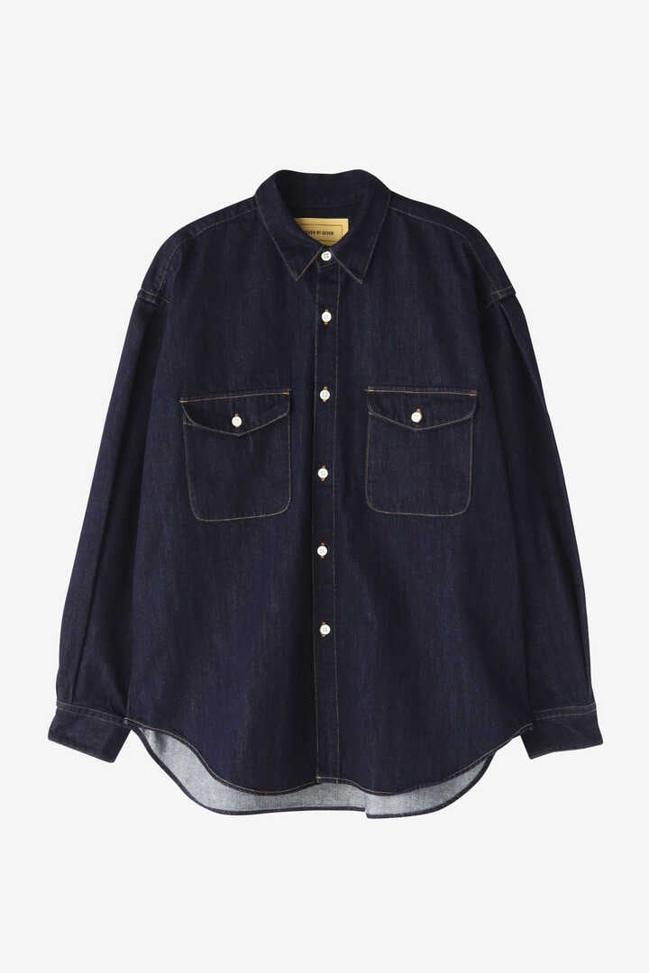 SEVEN BY SEVEN / DENIM TUCK SHIRTS(ONE WASH)1