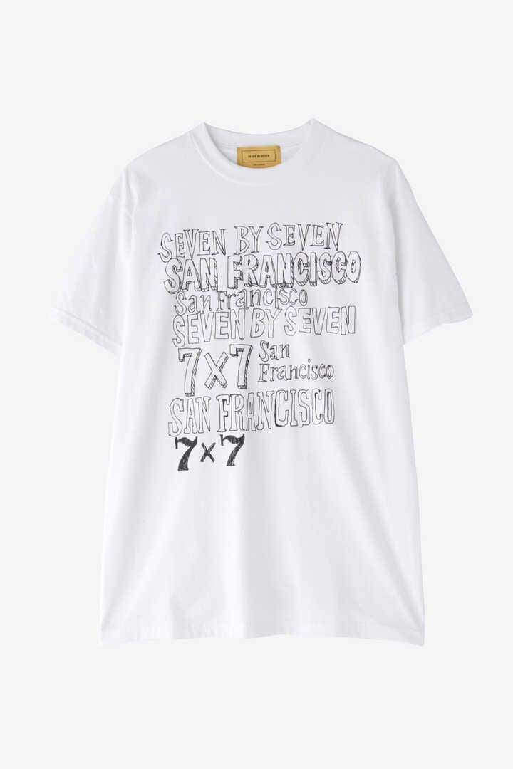 SEVEN BY SEVEN / SOUVENIR TEE(LOGO PRINT)3