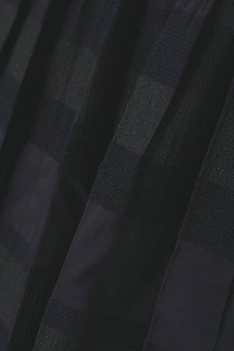 ボーダー×無地リバーシブルスカート