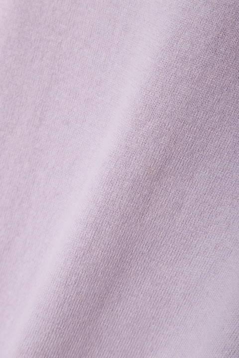 フワラー刺繍クルーネックニット