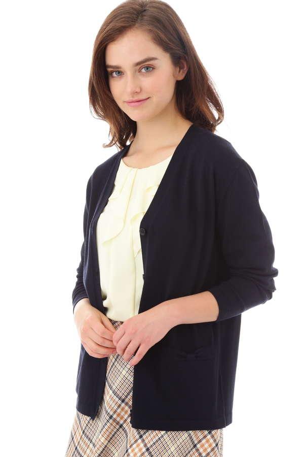 ミドル丈カーディガン