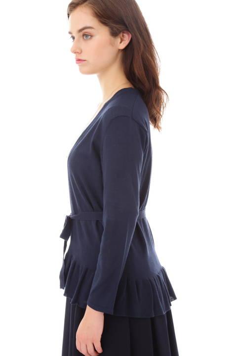 裾フリルカーディガン