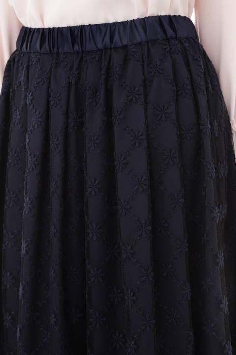 刺繍レーススカート