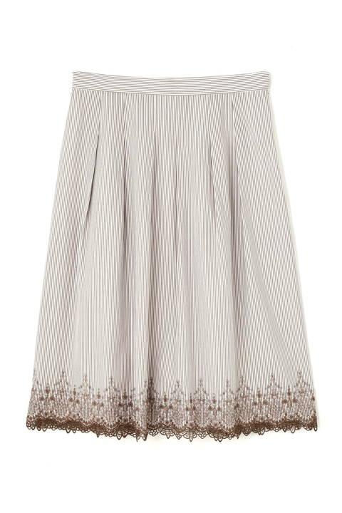 【先行予約 5月上旬 入荷予定】トルコ刺繍ストライプスカート