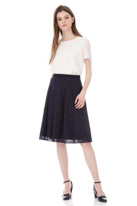 【先行予約 5月下旬 入荷予定】フラワーレーススカート