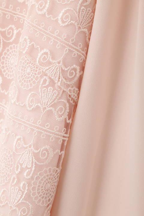 ボーダーチュール刺繍ブラウス