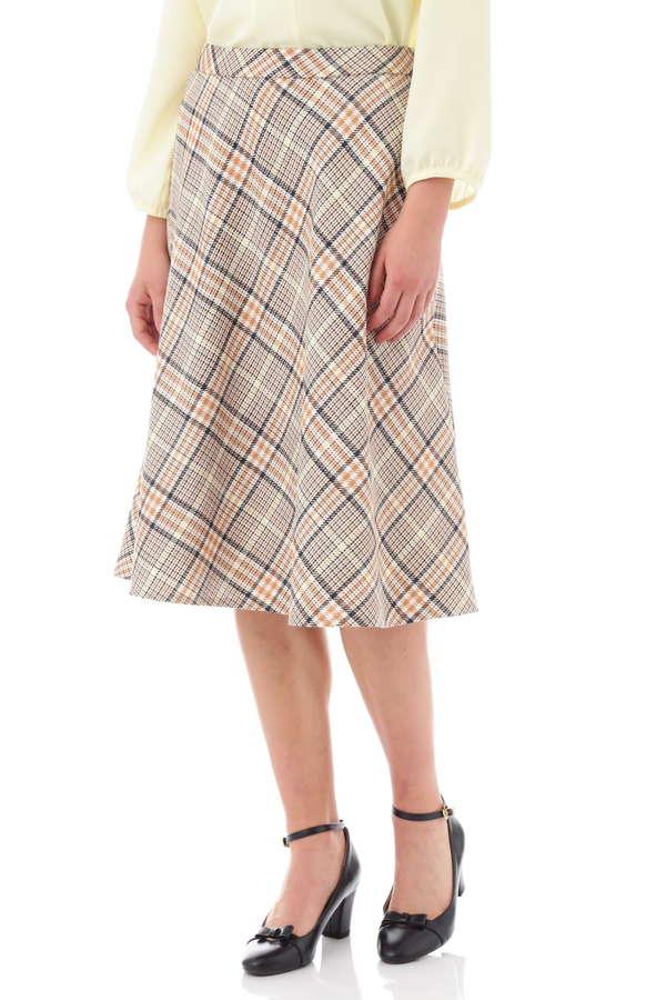 マルチカラーチェックフレアスカート