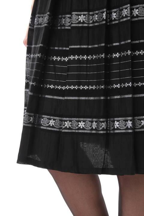 フラワーボーダーリバーシブルスカート
