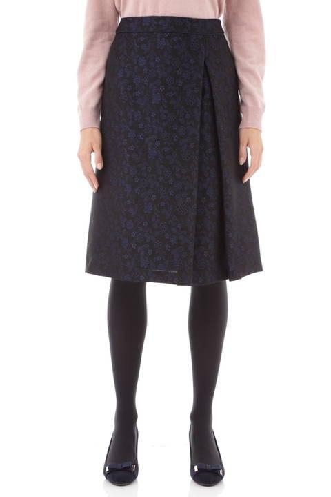 【先行予約 11月中旬入荷予定】フラワージャガードアシンメトリースカート