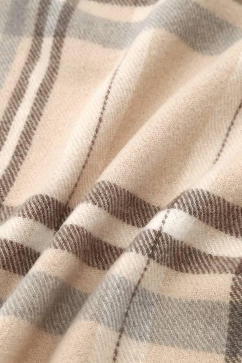 細巾チェックストール