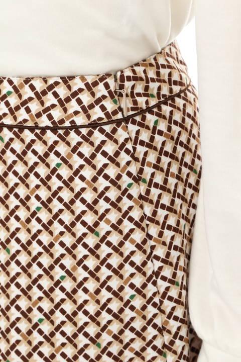 リップスティックプリントフレアスカート