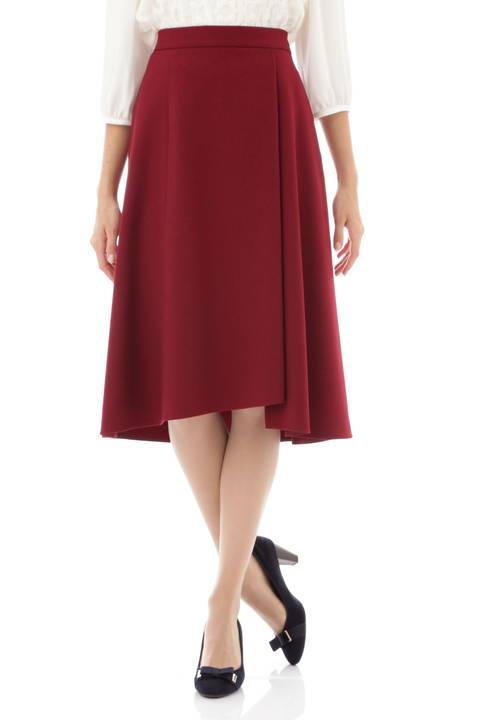【先行予約 10月上旬 入荷予定】ウールライクフラノイレギュラーラップスカート