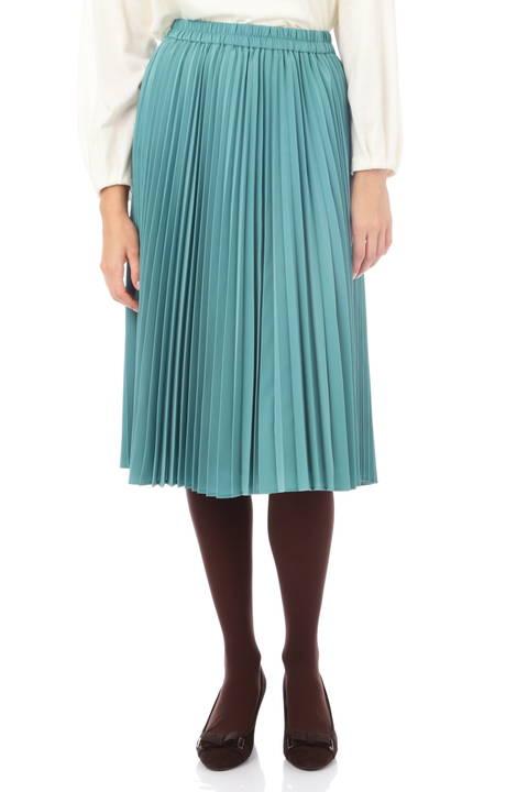 【先行予約 11月上旬入荷予定】サテンスエードアコーディオンプリーツスカート