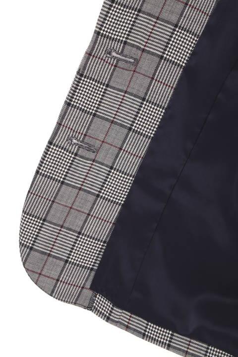 グレンチェックテーラードジャケット