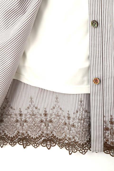 トルコ刺繍ストライプワンピース