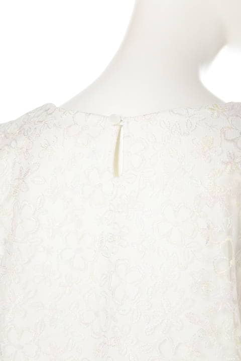 チュール刺繍ブラウス