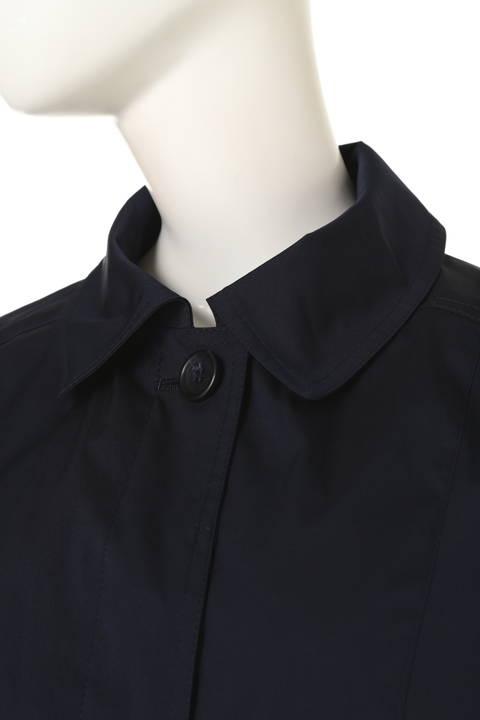 ステンカラーフード付コート