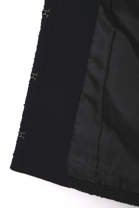 クルーネックファンシーツィードジャケット