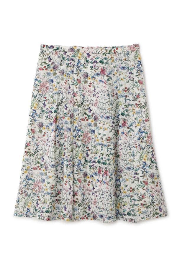 【先行予約 3月中旬 入荷予定】リバティWild Flowerフレアスカート