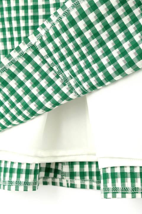 シアーギンガムチェックスカート