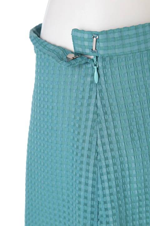 サテンサッカーマーメイドラップスカート