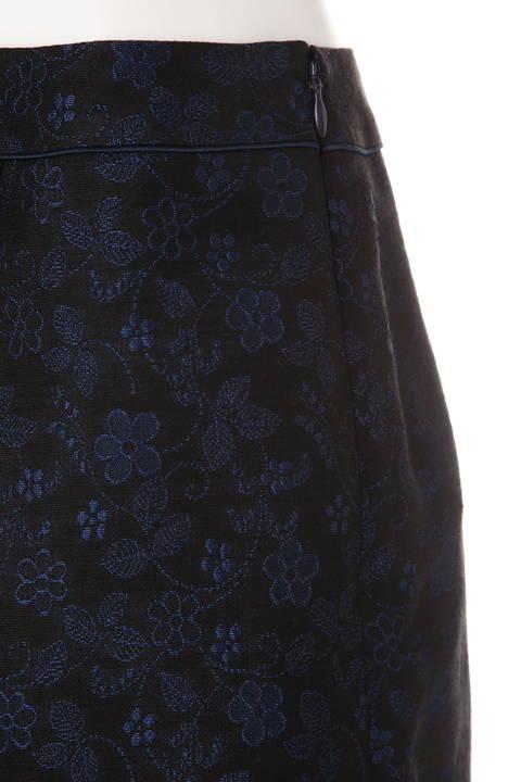 フラワージャガードアシンメトリースカート
