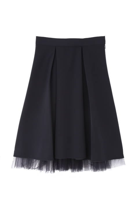 【先行予約 11月上旬入荷予定】ストレッチ合繊チュールレイヤードスカート《Ravishing Collection》