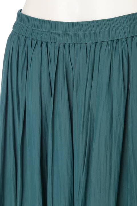 【先行予約 7月下旬入荷予定】割繊ロングギャザースカート