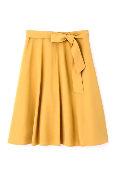 リボン付はぎフレアスカート