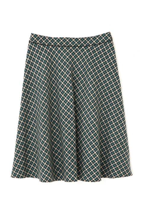 【先行予約 10月上旬 入荷予定】バイアスカラーチェックフレアースカート