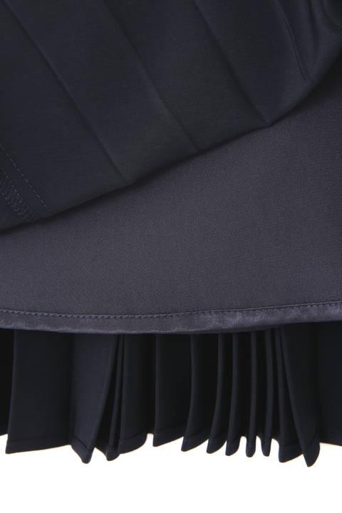 サテンスエードアコーディオンプリーツスカート
