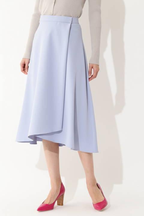 [ウォッシャブル]【永島優美さん着用】【STORY4月号掲載】ラップフレアスカート