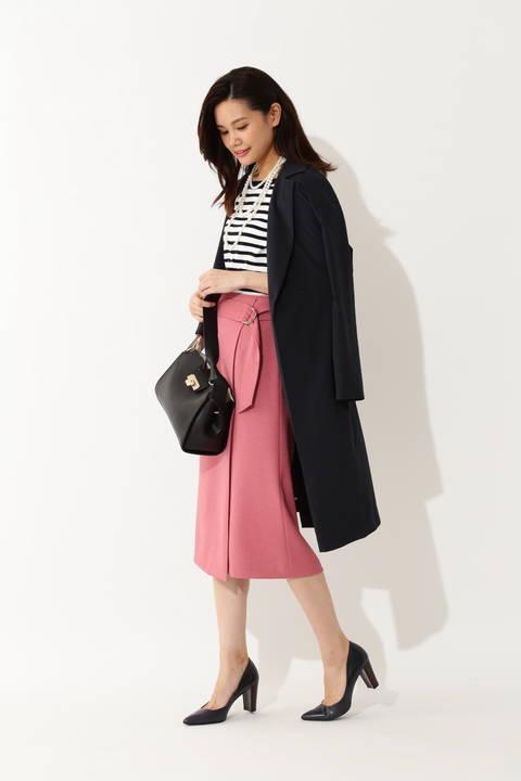 ◆ドラマ 瀬戸朝香さん着用◆[ウォッシャブル] 麻調タイトスカート